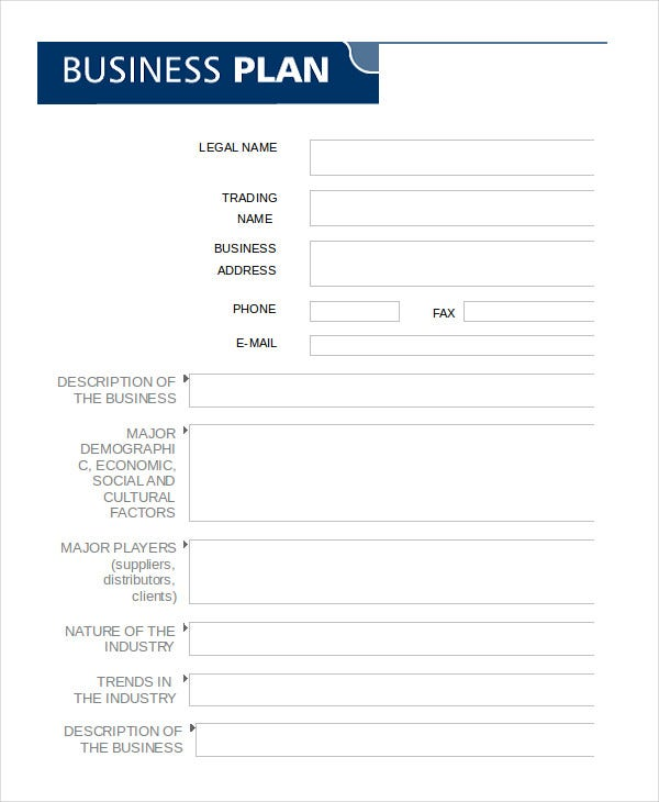 Business Plan Template In Word   Free Sample Example Format