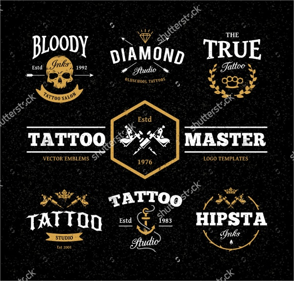 Cool Tattoo Studio Logo Template