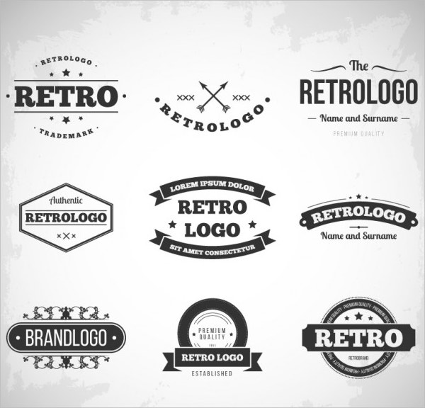 Free Vector Retro logo