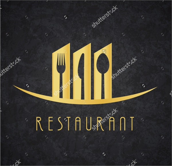Gold and Black Restaurant Logo