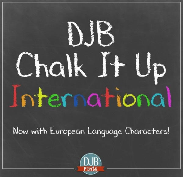 chalk board djb chalk it up font