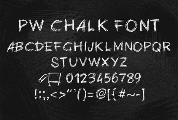 chalk board pw chalk font