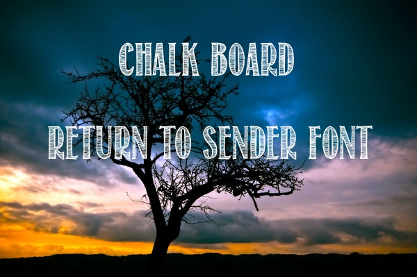 Chalk Board Return To Sender Font