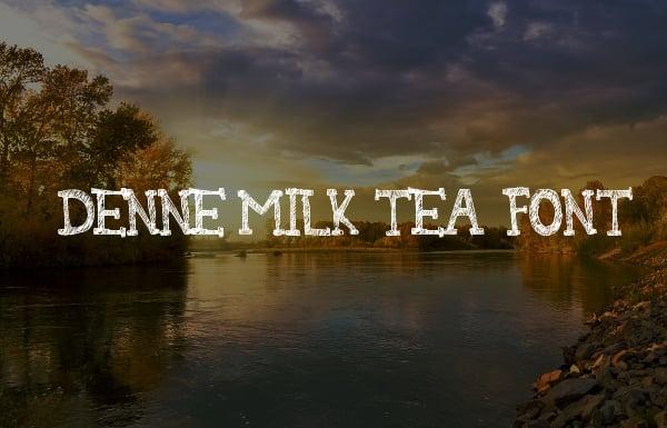 denne milk tea font