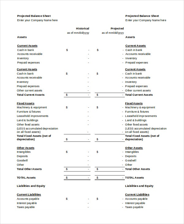 Balance Sheet - 18+ Free Word, Excel, PDF Documents ...