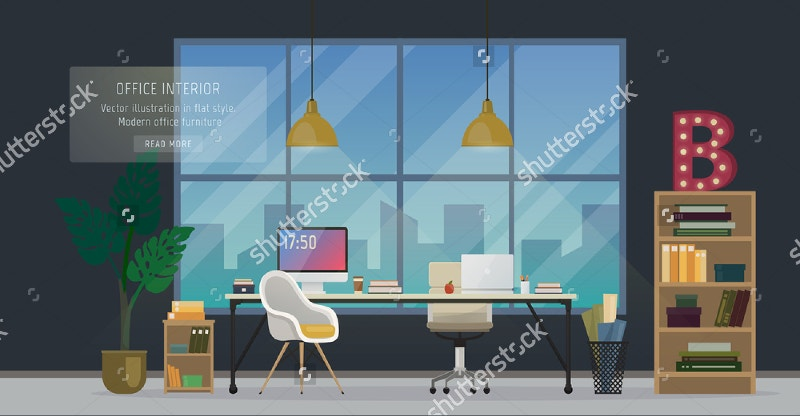 Modern Office Designer Workplace