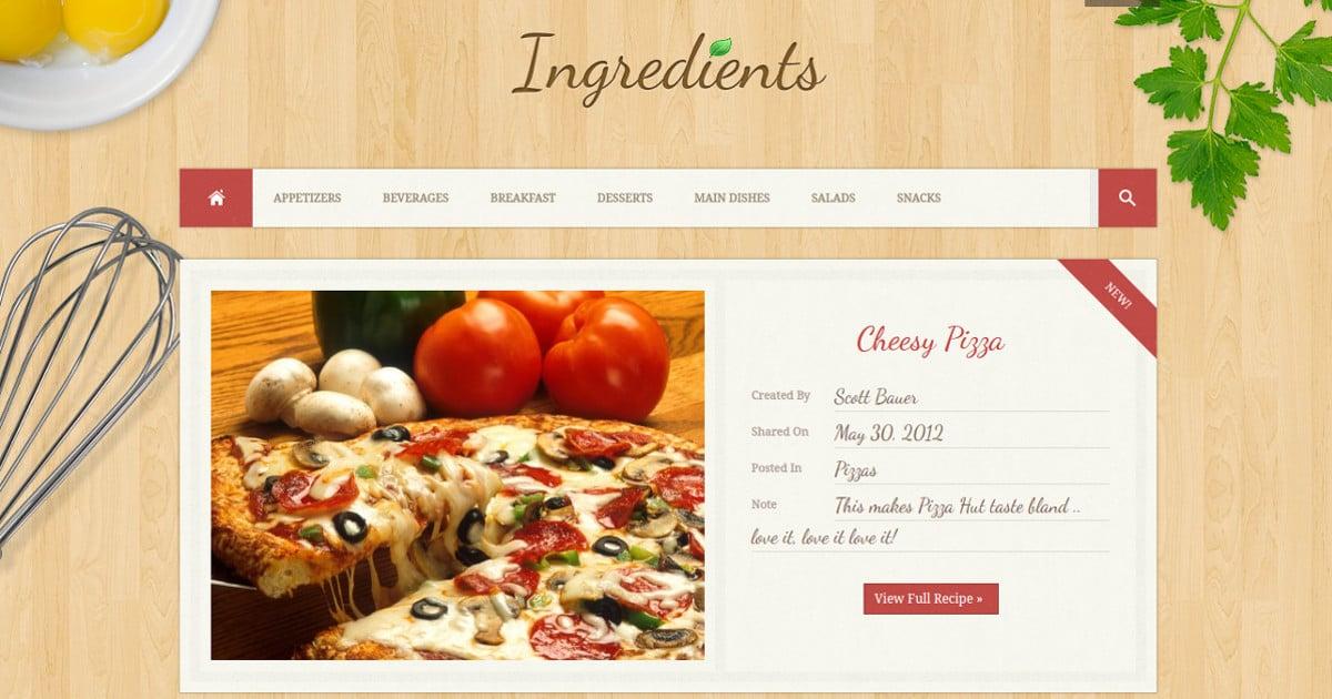 fresh recipe blog wordpress theme