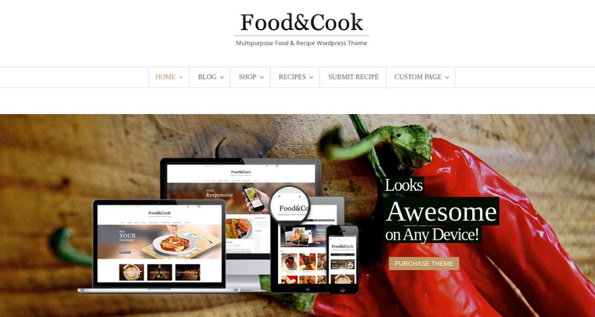 multipurpose food recipe blog wp theme