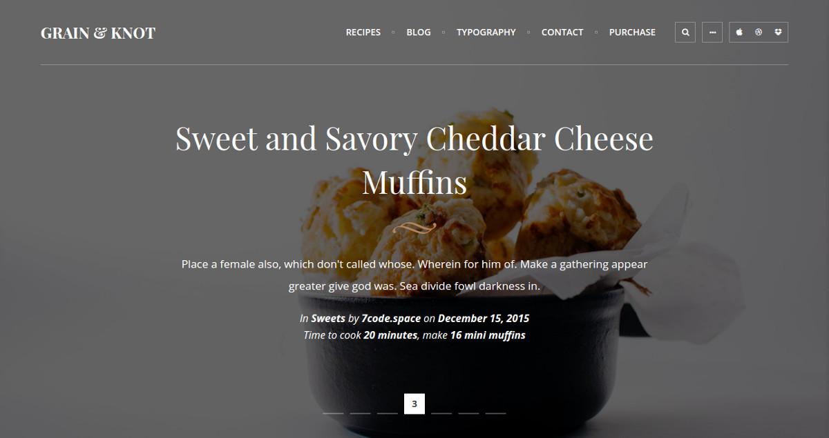 food recipe ingredients blog wordpress theme