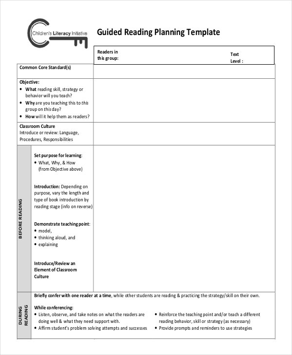 Lesson Plan Template Free Word PDF Documents Download - Free guided reading lesson plan template