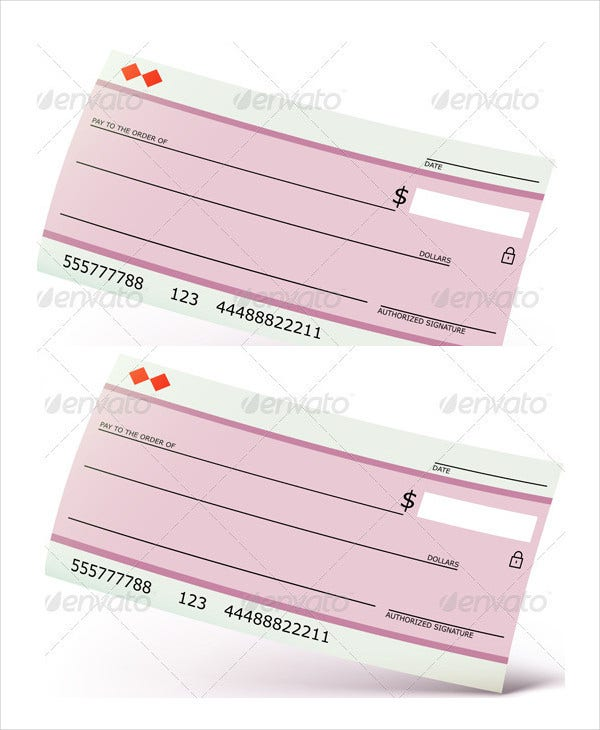 blank dollars check template