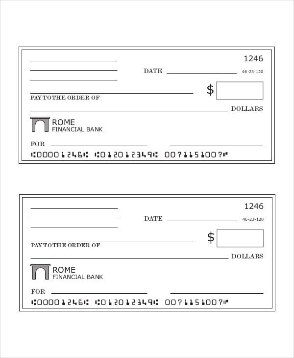 It's just a picture of Gratifying Printable Personal Checks