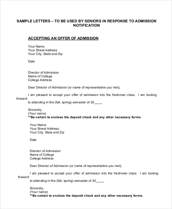 Sample Offer Acceptance Letter Offer Letter Acceptance Mail Format
