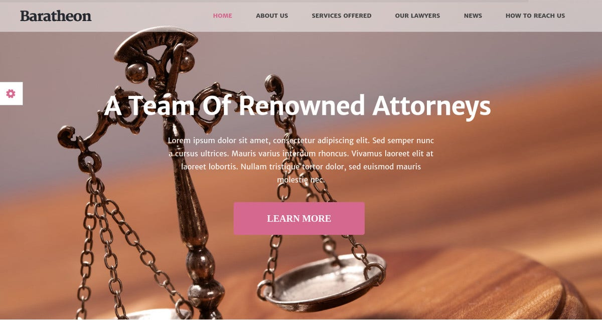 court law firm wordpress theme