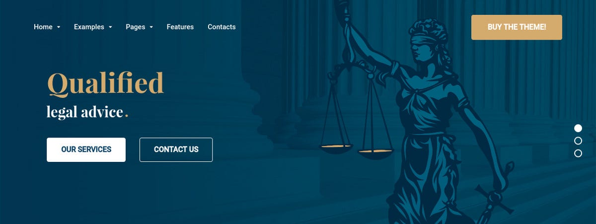 attorney law firm wordpress theme