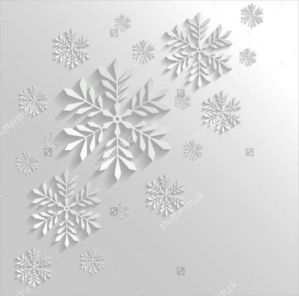 Abstract Snowflake Template Design