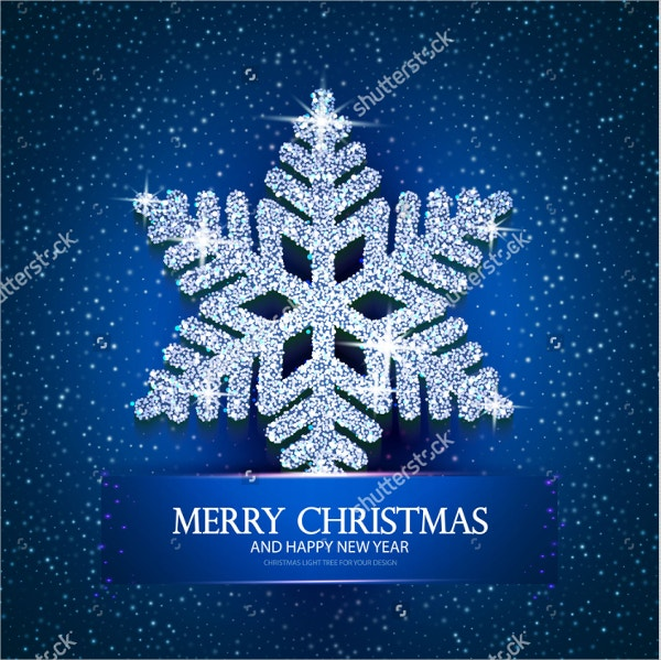 christmas greeting card template design