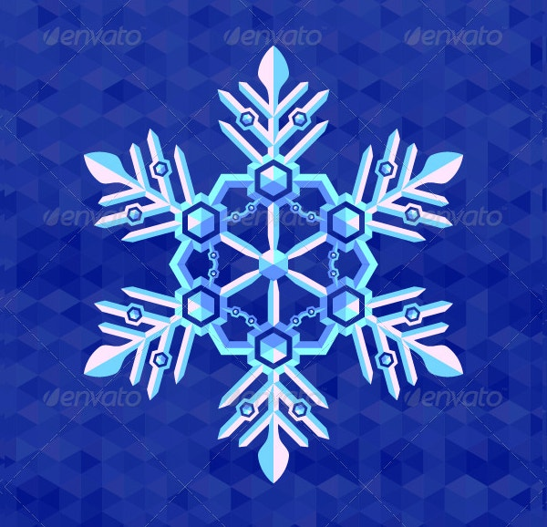christmas snowflake greeting card template