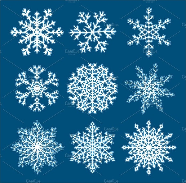 Christmas Vector Illustration Snowflake Set