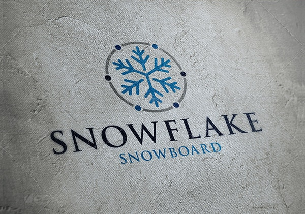 conditioner snowflake logo template