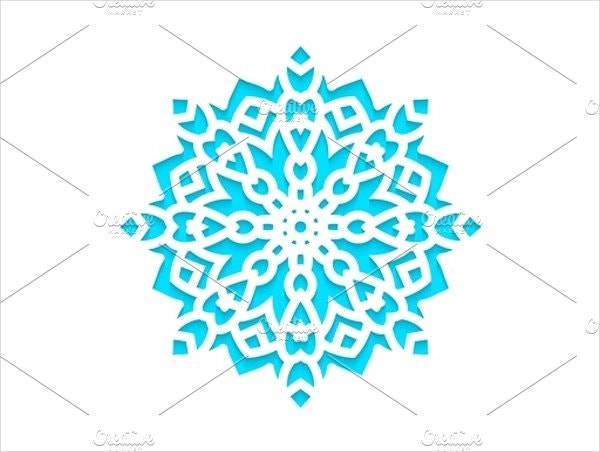 Engraved Template Snowflakes Laser Cut