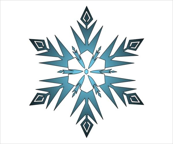 Frozen Snowflake Template