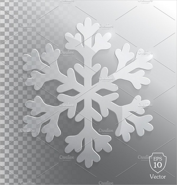 Glass Transparent Snowflake Vector