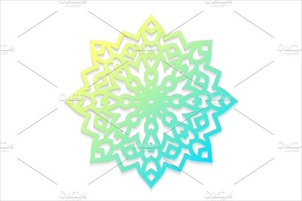 Laser Cut Template Snowflake