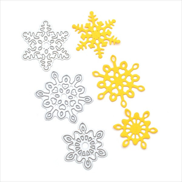 metal stencil die cutting snowflake template