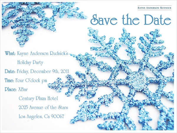 Save the Date Snowflake Template Design