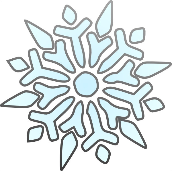 simple snowflake template design