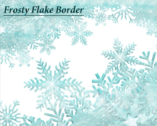 Winter Clipart Snowflake Template