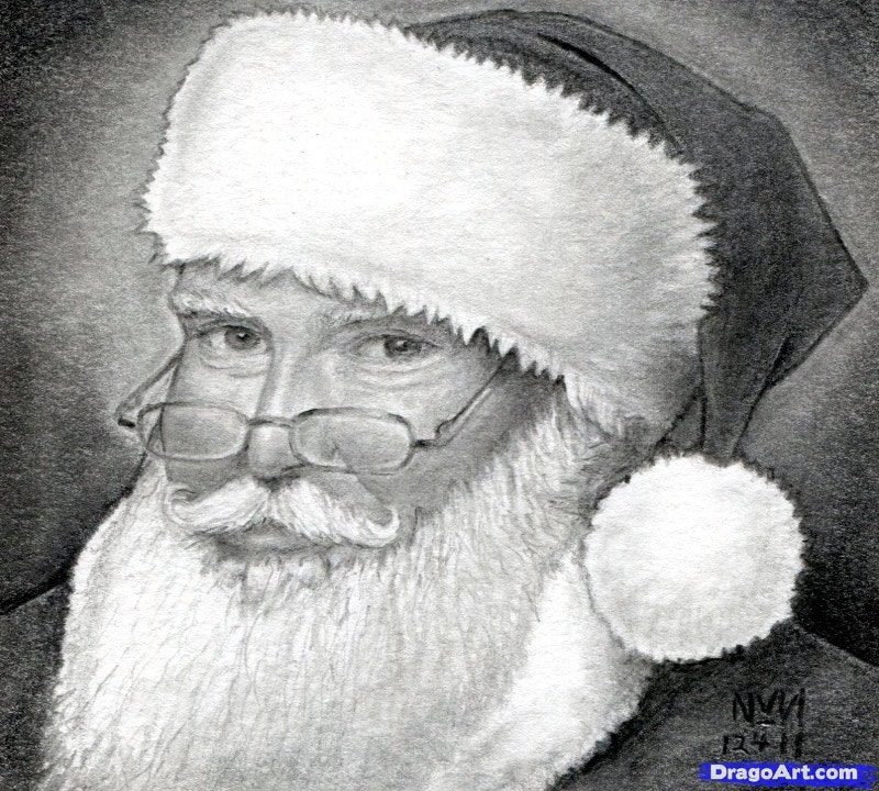 christmas santa pencil art