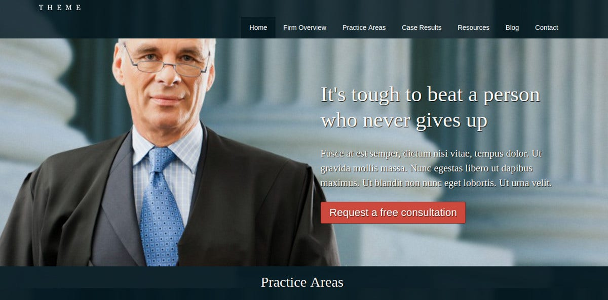 defence attorney law firm wordpress theme
