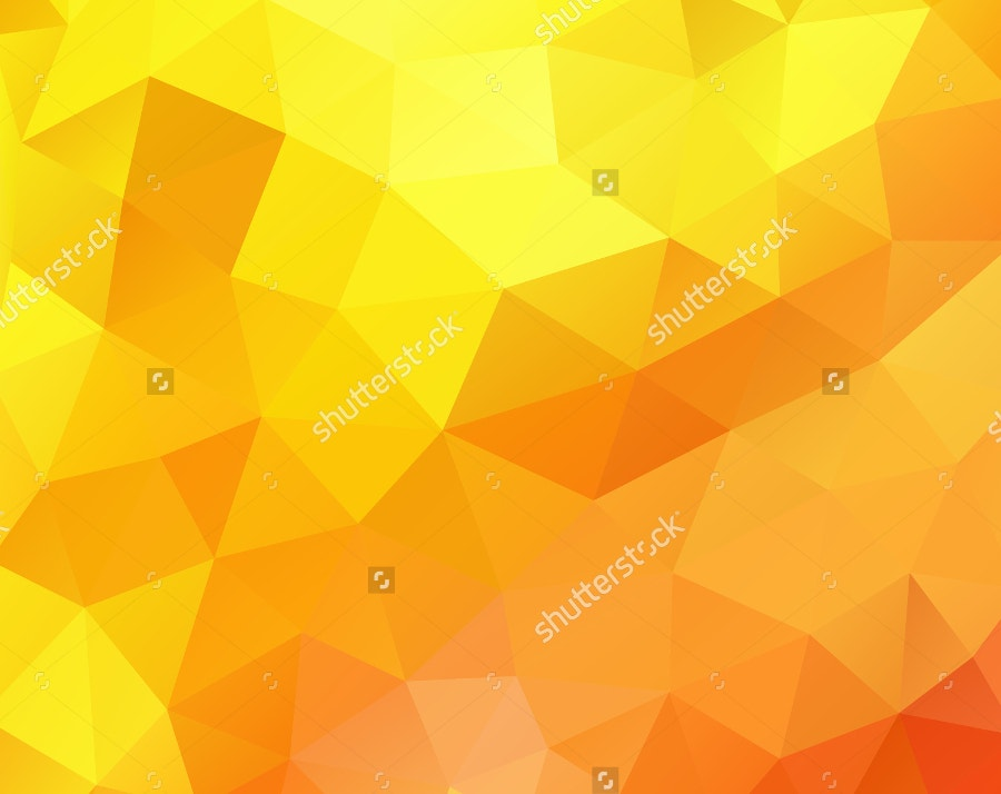 Gold Color Polygon Background