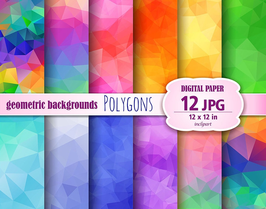 12 Sets of Digital Poly Backgrounds