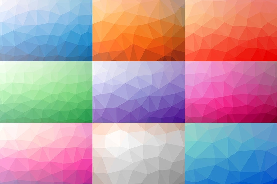 10 Vector Polygon Backgrounds