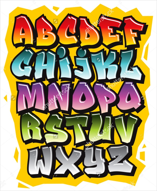 Cartoon Graffiti Comic Alphabet