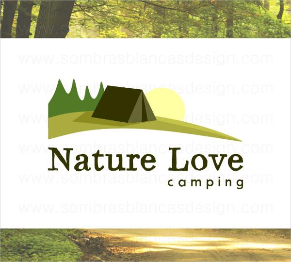 Camping Landscape Logo Design