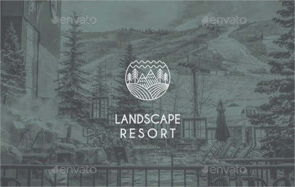Landscape Resort Logo Template