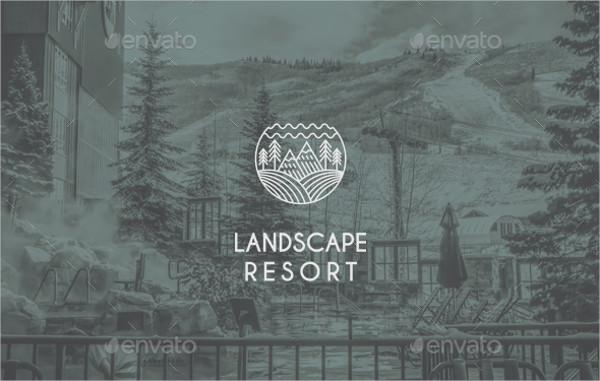 landscape resort logo template