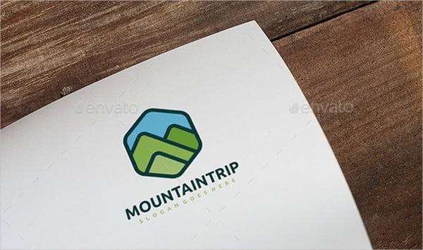 mountain landscape logo