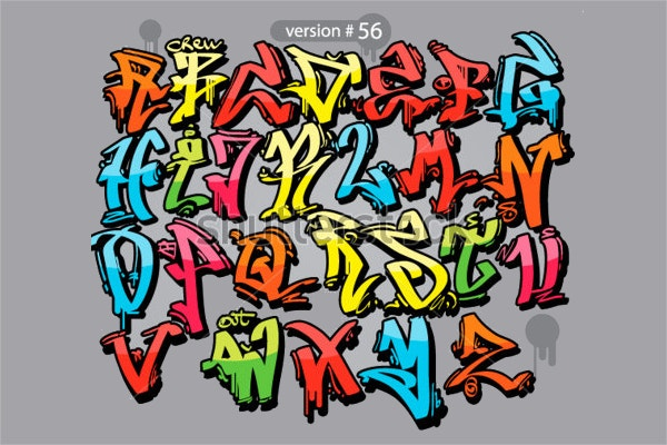 Urban Font Graffiti Alphabet