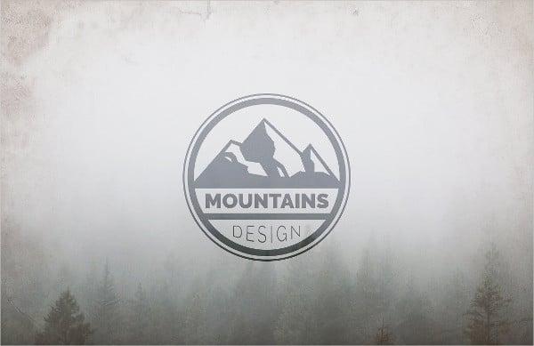 outdoor mountain logo design