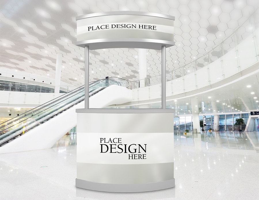 free promotion counter mockup