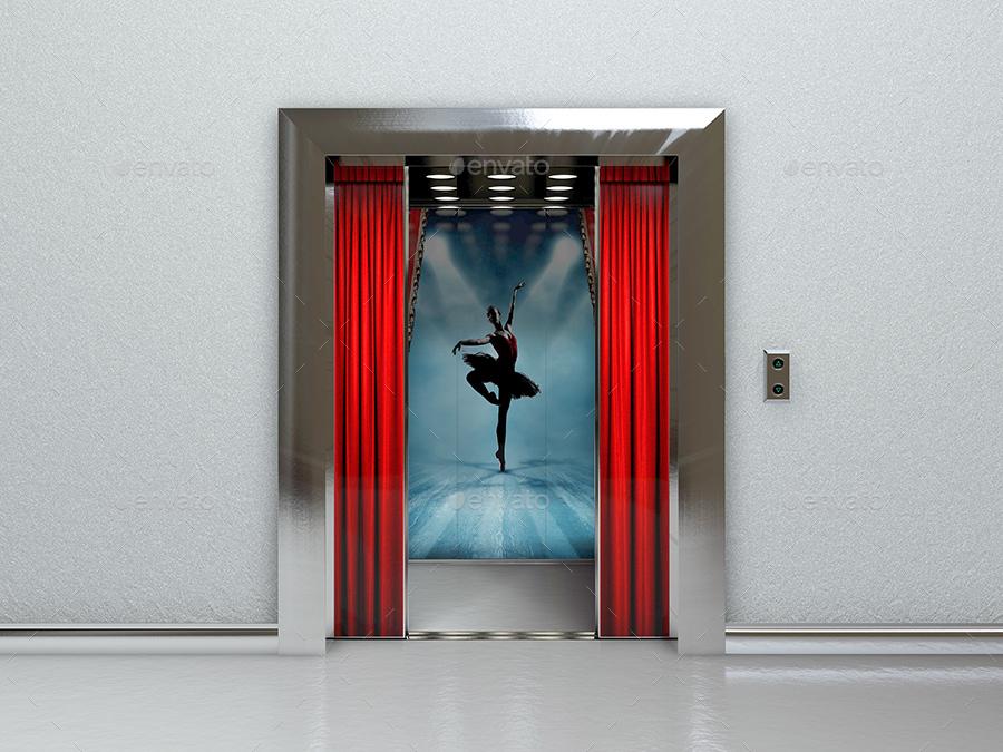 Commercial Elevator Mockup