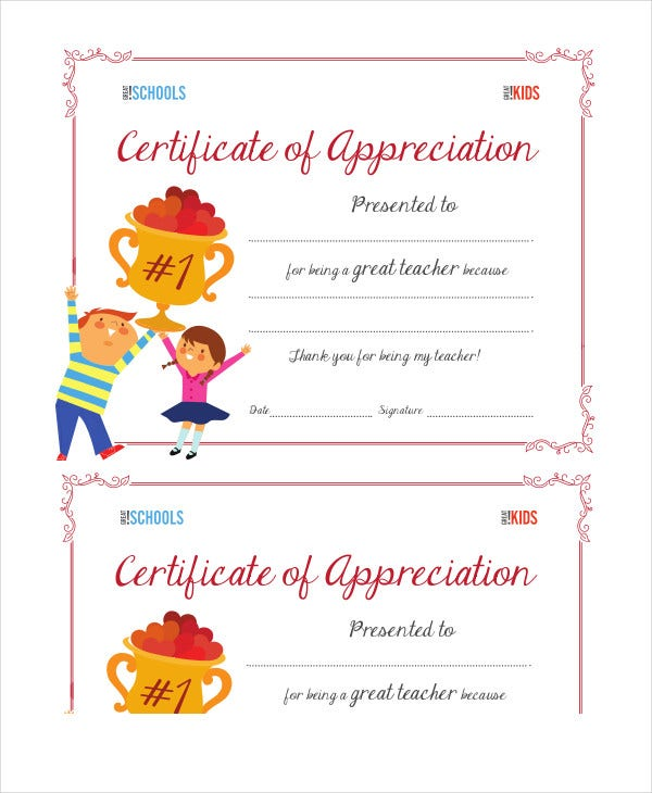 certificate of appreciation 14 free pdf ppt documents download