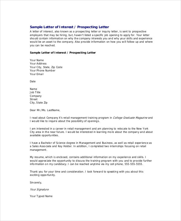 Formal Letter Template  Free Sample Example Format  Free