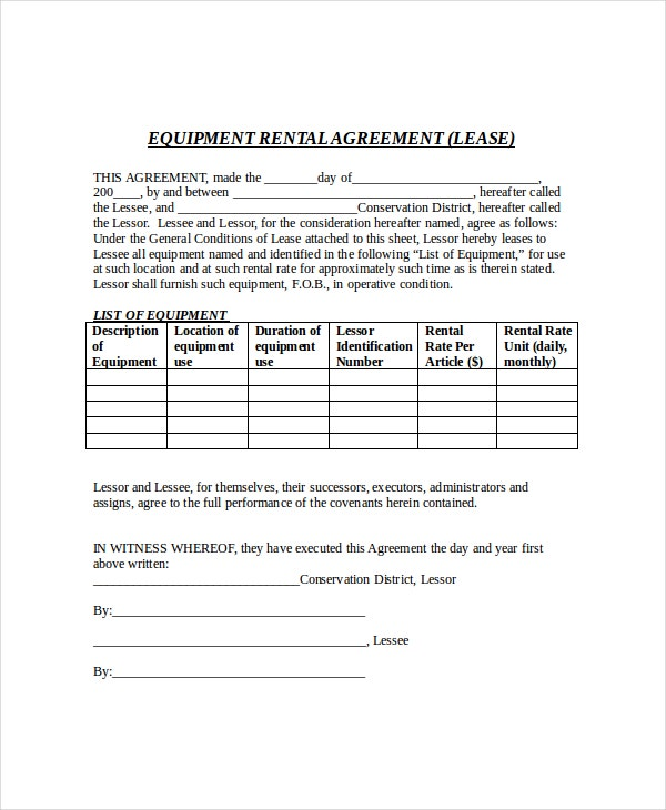 rental lease agreement template pdf