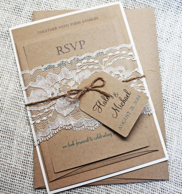 Homemade Wedding Invitation Template: 57+ Examples Of Wedding Invitations - PSD, AI, EPS